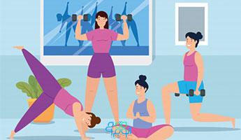 با ورزش در خانه لاغر شوید